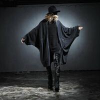 男士长袖T恤 时尚开衫演出个性长款蝙蝠衫蝙蝠袖韩版宽松休闲潮牌