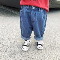婴童装儿童秋装3岁女童宽松牛仔裤百搭婴儿宝宝长裤打底裤