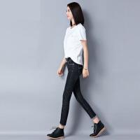 黑色高腰牛仔裤女士秋冬收腹修身显瘦弹力小脚裤新款韩版铅笔裤