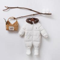 欧美婴儿衣服冬季羽绒服宝宝加厚防寒保暖外出服连体衣新生儿