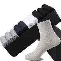 10双棉袜男袜男纯棉中筒运动�|商务袜子男袜竹纤维中筒男袜秋 均码