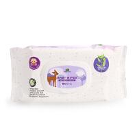 英国小树苗婴儿湿巾低敏全护宝宝柔润湿纸巾 天然洁肤湿巾纸80抽