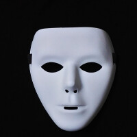 20180601184930205万圣节化妆舞会手绘白色鬼步舞面具男街舞面具恐怖面具鬼舞步面具