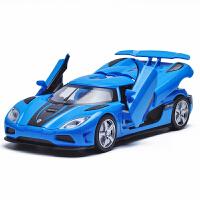 合金路障车模 1:32儿童男孩玩具跑车模型声光回力小汽车