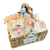 新生儿礼盒婴儿衣服套装礼盒男女宝宝百天满月纯棉秋冬季用品*惊喜的创意礼物节日礼品新年礼物