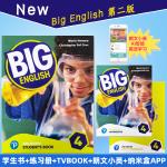现货包邮 培生朗文少儿英语新版 第二版 Big English 4级别套装 课本+练习册+TV Book+朗文小英 英