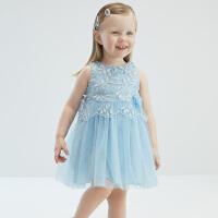 戴�S�拉女童�B衣裙2021夏�b新款�和�裙子小童����洋�夤�主裙
