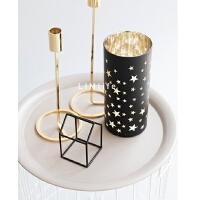 简约烛台杯餐桌卧室北欧白色样板房烛光晚餐圣诞派对摆件