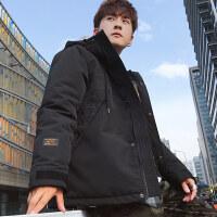 冬季外套男士2018新款韩版宽松加厚羽绒冬天潮流短款棉衣冬装