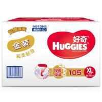 [当当自营]好奇(Huggies) 金装超柔贴身纸尿裤加大号XL105片(适合12-16公斤)
