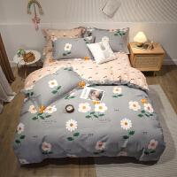 伊迪梦家纺 纯棉四件套斜纹印花 全棉200*230cm被套床单被单床上用品1.5-1.8m米床kz40