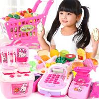 儿童超市收银机仿真刷卡机收银台推车过家家厨房女孩玩具3-6周岁