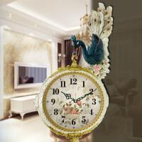 挂钟客厅创意装饰挂表美式个性双面时钟
