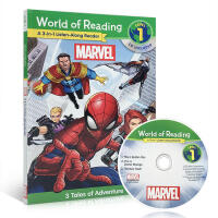 【全店300减100】英文原版 World of Reading: Marvel 3-in-1 Listen-Along