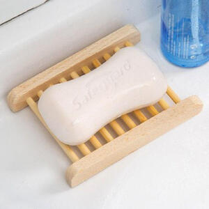 物有物语 香皂盒 家居卫浴日用品整理收纳日式简约木质肥皂盒子创意浴室卫生间镂空沥水防腐防潮易清洗大号手工木皂托