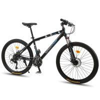 耐嘛26寸铝合金山地车 27速微转线碟刹自行车