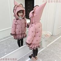 女童棉衣2018新款韩版女孩冬装洋气中长款加厚棉袄儿童羽绒潮