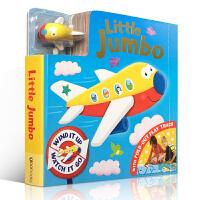英文原版正版 Little Jumbo 小飞机轨道车玩具书Busy Day系列Board book儿童低幼英语启蒙宝宝