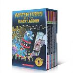 英文原版 Black Lagoon Collection Set 1 黑潭小学10册 幽默漫画 学生英语课外阅读 章节