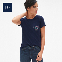 【4折价:59.6元 4.27日GAP超级品牌日】Gap官方旗舰店 女装 活力图案圆领短袖T恤 400601