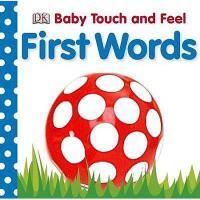 【现货】英文原版DK触摸书:单词 Baby Touch and Feel First Words 宝宝启蒙认知图书 亲