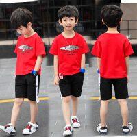 童装男童套装夏装2018新款儿童夏季短袖中大童运动装两件套