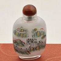 鼻烟壶 内画 水晶摆件出国礼品外事礼品 中国风工艺品送老外