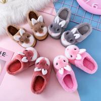 乌龟先森 拖鞋 男童女童卡通兔子防滑鞋子冬季新款韩版儿童时尚休闲舒适百搭家居鞋