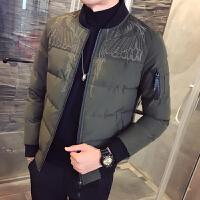男士棉衣外套冬季新款潮流帅气青少年韩版修身加厚夹克休闲装棉袄