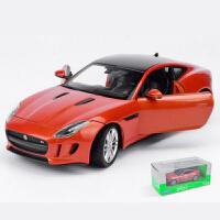 仿真捷豹F-TYPE跑车合金车模 1:24赛车汽车模型收藏*