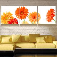 客厅装饰画现代简约三联无框画餐厅卧室壁画挂画沙发背景墙装饰画SN1549 橙色记忆 LM606WK 60*60#宽33