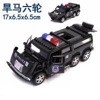 合金警车玩具仿真儿童救护车跑车警察车男孩回力小汽车模型带声光儿童节礼物