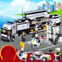 兼容乐高积木拼装城市汽车男孩子6-8-10周岁力玩具7儿童3警察局