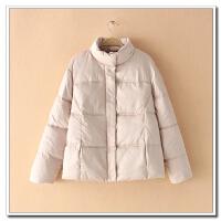 冬胖MM200斤立领保暖加厚面包服外套修身时尚短棉衣