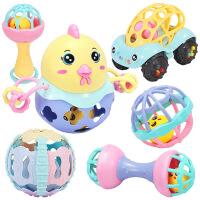 婴儿摇铃牙胶手摇铃新生儿玩具0-3-6-12个月宝宝0-1岁手抓球儿童节礼物 趣萌摇铃手抓球【6件套】