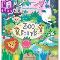 【中商原版】发声书:动物园的音乐 Zoo sounds 英国Usborne 全彩环保 页圆角防划伤