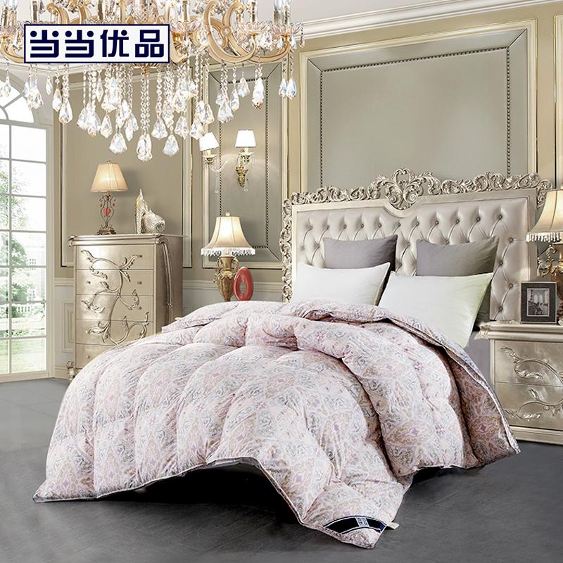 当当优品95%白鹅绒冬被羽绒被芯 浪漫法兰西 双人加大被子220*240cm