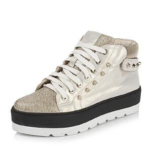 Teenmix/天美意专柜同款山羊皮革女靴6D840CD5