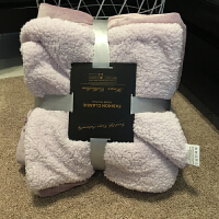 小毛毯沙发盖毯羊羔绒双层加厚珊瑚绒办公室午睡午休空调儿童毯子