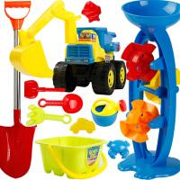 宝宝沙子戏水铲子工具 儿童沙滩玩具套装决明子挖沙挖掘机工程车