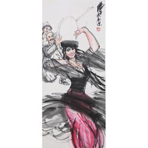 C102 黄胄(附出版) 《塔吉克民间舞》