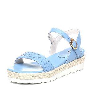 Tata/他她夏季专柜同款羊皮女凉鞋0U200BL6