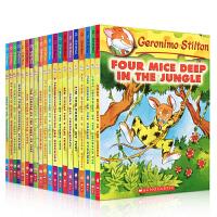 【全店500减170】英文原版儿童小说 Geronimo Stilton 1-20册套装 老鼠记者儿童青少年桥梁章节书 彩色插图漫画书 青少年冒险探险丛书系列儿童文学全球版桥梁书 送音频 送手提袋