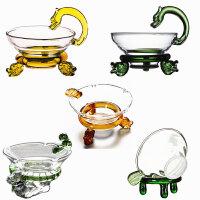 耐热玻璃茶漏功夫茶具配件茶滤网滤茶器手工透明玻璃茶具