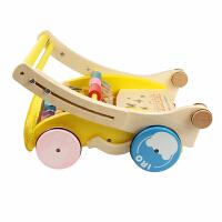 宝宝学步车手推车儿童玩具木质学走路助步车