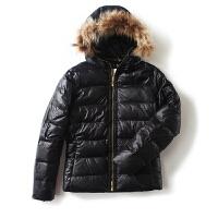 女装冬装新潮 韩版连帽拉链黑色棉衣羽绒服长袖外套女