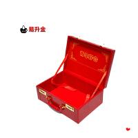 结婚手提箱婚庆复古箱包红色陪嫁新娘行李礼金皮箱