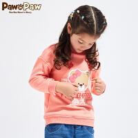 【3件3折 到手价:167】【加绒】Pawinpaw卡通小熊童装冬女童卫衣小童卡通卫衣