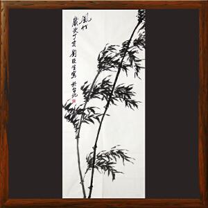 刘臣生《风竹》台湾美术家 中国美术协会会员 侨联总会理事R1626