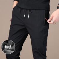 Lee Cooper新品抽绳款加绒直筒弹力运动裤小脚男士休闲裤